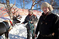 Reindeer herders in Røros, Norway, who run a small tourist business in winter named Rørosrein. They also attended the 169th winter fair in Røros, Rørosmartnan, with reindeers and sledges at Doktortjønna.