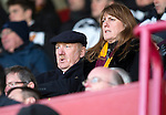 Motherwell v St Johnstone...31.01.15    SPFL<br /> New owner Les Hutchison in the stands<br /> Picture by Graeme Hart.<br /> Copyright Perthshire Picture Agency<br /> Tel: 01738 623350  Mobile: 07990 594431