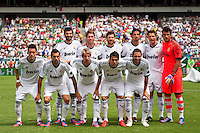 Real Madrid starting eleven. Real Madrid defeated Celtic F. C. 2-0 during a 2012 Herbalife World Football Challenge match at Lincoln Financial Field in Philadelphia, PA, on August 11, 2012.