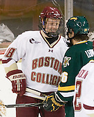 Tommy Atkinson (BC - 28), Brett Leonard (Vermont - 26) - The Boston College Eagles defeated the visiting University of Vermont Catamounts 6-0 on Sunday, November 28, 2010, at Conte Forum in Chestnut Hill, Massachusetts.