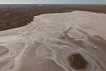 Aerial - Sturt Stoney Desert with dry salt lakes.