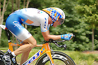 Christian VandeVelde at the 2008 US Pro Championship time trial.