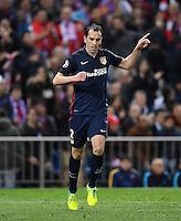 FUSSBALL CHAMPIONS LEAGUE  SAISON 2015/2016 VIERTELFINAL RUECKSPIEL Atletico Madrid - FC Barcelona       13.04.2016 Jubel Atletico Madrid; Diego Godin