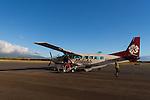 The flight from Ho'olehua, Molokai to Maui, Hawaii, USA