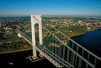 Verrazano-Narrows Bridge, connecting Brooklyn and Staten Island, New York