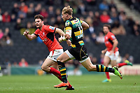 Harry Mallinder of Northampton Saints goes on the attack. Aviva Premiership match, between Northampton Saints and Saracens on April 16, 2017 at Stadium mk in Milton Keynes, England. Photo by: Patrick Khachfe / JMP