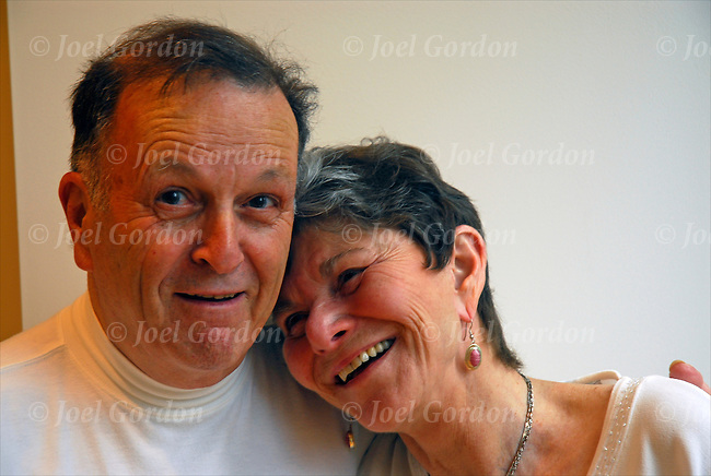 Older married couple at small informal civil wedding ceremony laughing ...: joelgordon.photoshelter.com/image/I0000fan3_yZ51IU