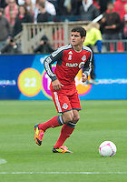 06 October 2012: Toronto FC defender Logan Emory #2 in action during an MLS game between D.C. United and Toronto FC at BMO Field in Toronto, Ontario..D.C. United won 1-0..