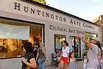 "Huntington, New York, U.S. 24th August 2013. The Huntington Arts Council hosted a gallery exhibit of 12 winning poster for ""Post No Bills"" after the art event ""Off the Walls"" Block Party, by SPARKBOOM, a Huntington Arts Council project created to help emerging artists, showcase talents, and help its artistic family network."