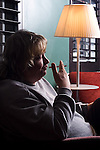 Musician and cartoonist Daniel Johnston, photographed in London for Empire Magazine