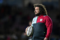 Adam Jones of Harlequins looks on during the pre-match warm-up. Aviva Premiership match, between Harlequins and Exeter Chiefs on April 14, 2017 at the Twickenham Stoop in London, England. Photo by: Patrick Khachfe / JMP
