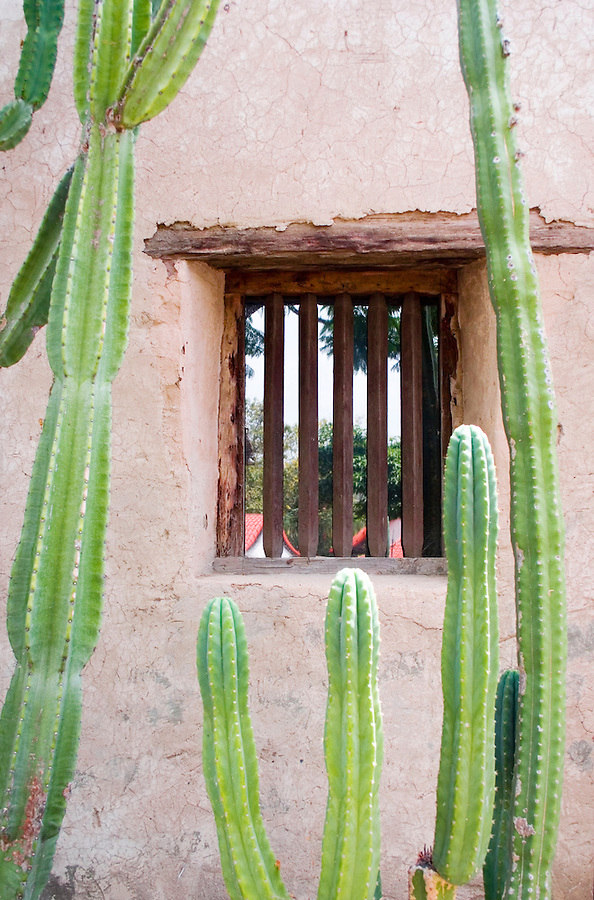 Window at San Juan Capistrano mission