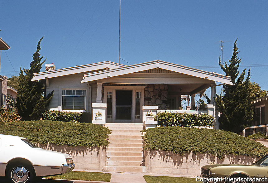 Typical california bungalow friends of san diego for California cottage style homes