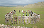 Members of the Nineveh Plain Protection Units participate in a class on strategy and tactics during training at their base near Alqosh, Iraq, on April 12, 2016. The Assyrian militia group was formed by Christians displaced by ISIS from Qaraqosh and other towns in the Nineveh Plain in 2014. Their goal is to take back their homeland and make it a semi-autonomous province within Iraq.