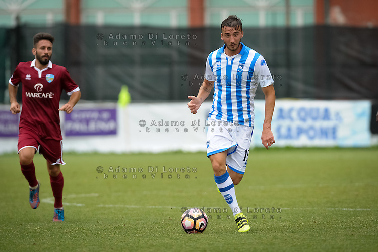 Bryan Cristante (Pescara) during the withdrawal preseason Serie A; match friendly between Pescara vs San Nicolò, on July 28, 2016. Photo: Adamo Di Loreto/BuenaVista*photo