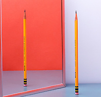 PENCIL REFLECTED IN PLANE MIRROR<br /> Reflection Is A Virtual (Upright) Image