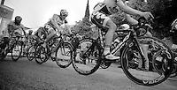 2013 Giro d'Italia .stage 03..Adam Hansen (AUS) following teammate Lars Bak's wheel