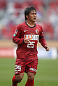 Yasushi Endo, (Antlers), April 23rd, 2011 - Football : 2011 J.LEAGUE Division 1, 7th Sec match between Kashima Antlers 0-3 Yokohama Marinos at National Stadium, Tokyo, Japan. The J.League resumed on Saturday 23rd April after a six week enforced break following the March 11th Tohoku Earthquake and Tsunami. All games kicked off in the daytime in order to save electricity and title favourites Kashima Antlers are still unable to use their home stadium which was damaged by the quake. Velgata Sendai, from Miyagi, which was hard hit by the tsunami came from behind for an emotional 2-1 victory away to Kawasaki. (Photo by Akihiro Sugimoto/AFLO SPORT) [1080].