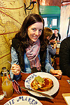 Allison with her Savory Pie at the Pie Maker in Galway, County Galway, Ireland on Monday, June 24th 2013. (Photo by Brian Garfinkel)