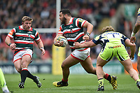 Ellis Genge of Leicester Tigers goes on the attack. Aviva Premiership match, between Leicester Tigers and Sale Sharks on April 29, 2017 at Welford Road in Leicester, England. Photo by: Patrick Khachfe / JMP