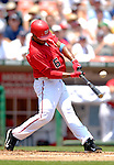 18 June 2006: Jose Guillen, right fielder for the Washington Nationals, connects against the New York Yankees at RFK Stadium, in Washington, DC. The Nationals defeated the Yankees 3-2 in the third game of the interleague series...Mandatory Photo Credit: Ed Wolfstein Photo...