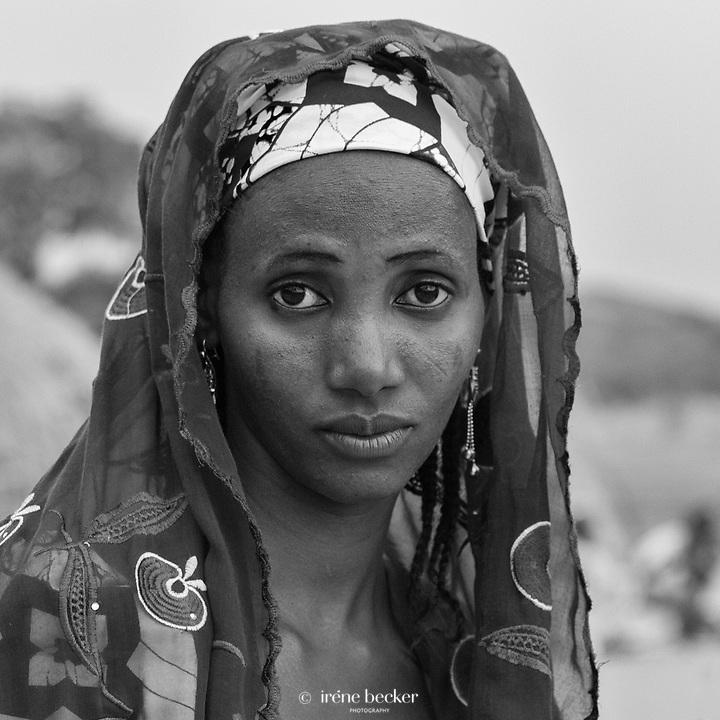 Portrait from a Fulani marriage ceremony. Kajuru, North-western Nigeria.