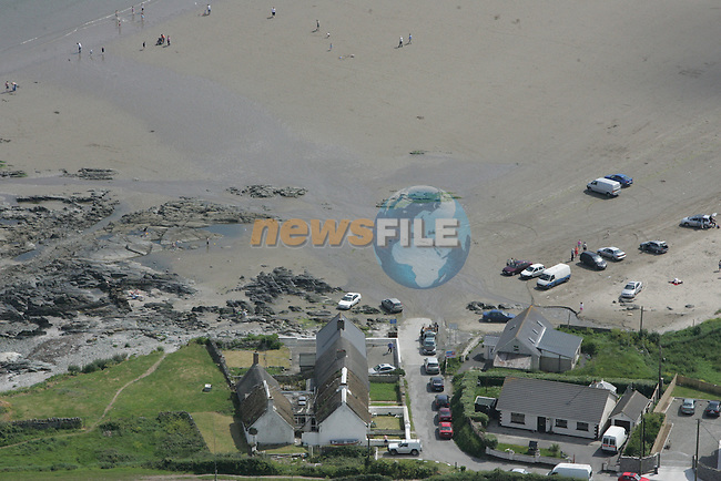 Ariel pictures of the site in Clogherhead at the Beach and Slip way..Photo: Fran Caffrey/ Newsfile.
