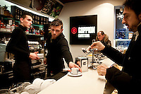 Goppion Caffeteria, Venice, Italy.  The Goppion Brothers founded the famous coffee house of the Veneto region in 1948.