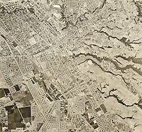 historical aerial photograph Hayward, Alameda county, 1958
