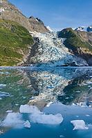 Cascade glacier, Chugach mountains, Prince William Sound, Alaska.