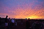 Mo'okini Luakini Heiau, in winter, late afternoon and sunset, North Kohala, Big Island.