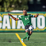 24 September 2016: Dartmouth College Big Green Midfielder Alexander Marsh, a Senior from Plantation, FL, in action against the University of Vermont Catamounts at Virtue Field in Burlington, Vermont. The teams played to an overtime 1-1 tie in front of an Alumni Weekend crowd of 1,710 fans. Mandatory Credit: Ed Wolfstein Photo *** RAW (NEF) Image File Available ***