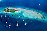 Aerial view of Marina Cay<br />
