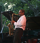 Ravi Coltrane performs at CareFusion Jazz Festival -The McCoy Tyner Quartet With Ravi Coltrane, Esperanza Spalding and Francisco Mela/The Stanley Clarke Band with Hiromi, Central Park Summer Stage 6/23/10
