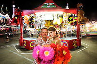 1 August 2012:  Stan Moniz and Heidi Wagenbach at the OC Fair for fun engagement session.  Personal Use Only.