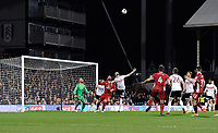 Blackburn Rovers' Danny Graham battles for possession with Fulham's Scott Malone<br /> <br /> Photographer /Ashley WesternCameraSport<br /> <br /> The EFL Sky Bet Championship - Fulham v Blackburn Rovers - Tuesday 14th March 2017 - Craven Cottage - London<br /> <br /> World Copyright &copy; 2017 CameraSport. All rights reserved. 43 Linden Ave. Countesthorpe. Leicester. England. LE8 5PG - Tel: +44 (0) 116 277 4147 - admin@camerasport.com - www.camerasport.com
