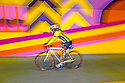 WA09994-00...WASHINGTON - Cyclest in brightly painted tunnel on the Burke-Gilman Trail. Locatedl in the town of Kenmore.  (MR# S1)