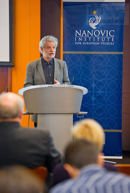 Feb. 8, 2013 Thomas Elsaesser, an international film historian and a Professor of Film and Television Studies at the University of Amsterdam, gives a talk as part of the Nanovic Institute's film series...Photo by Matt Cashore/University of Notre Dame
