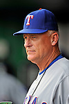 21 June 2008: Texas Rangers' Bench Coach Art Howe looks at his players warming up prior to facing the Washington Nationals at Nationals Park in Washington, DC. The Rangers defeated the Nationals 13-3 in the second game of their 3-game inter-league series...Mandatory Photo Credit: Ed Wolfstein Photo