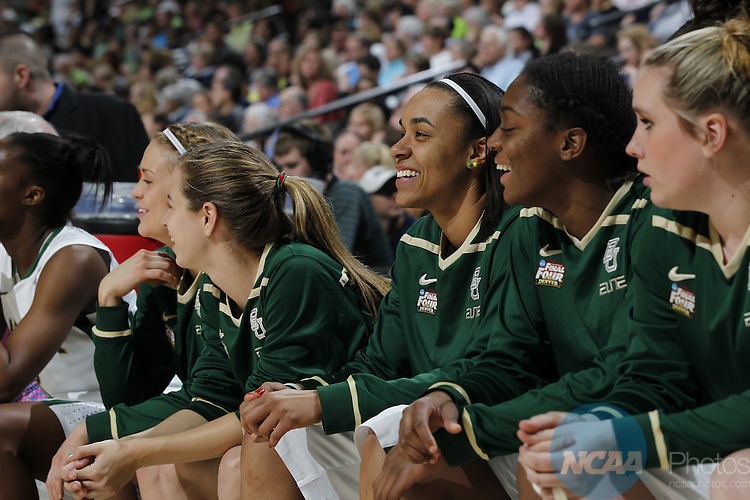 01 APRIL 2012:  Stanford takes on the University of Baylor during the Division I Women's Final Four semifinals at the Pepsi Center in Denver, CO.  Jamie Schwaberow/NCAA Photos