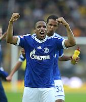 Fussball 1. Bundesliga :  Saison   2012/2013   8. Spieltag  20.10.2012 Borussia Dortmund - FC Schalke 04 Jubel nach dem Sieg Jefferson Farfan (FC Schalke 04)