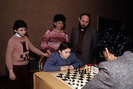 New York City, USA - March 4, 1986. This photograph of Judit Polgár was taken at an international chess competition that was held in NY. Judit Plogár (born July 23, 1976) is a Hungarian chess grandmaster, who is currently ranked 36th in world.