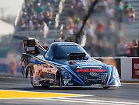 Sep 23, 2016; Madison, IL, USA; NHRA funny car driver John Bojec during qualifying for the Midwest Nationals at Gateway Motorsports Park. Mandatory Credit: Mark J. Rebilas-USA TODAY Sports