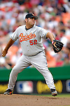 21 May 2006: Chris Britton, pitcher for the Baltimore Orioles, on the mound against the Washington Nationals at RFK Stadium in Washington, DC. The Nationals defeated the Orioles 3-1 to take 2 of 3 games in their first inter-league series...Mandatory Photo Credit: Ed Wolfstein Photo..