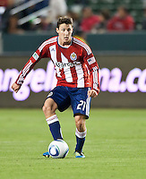 CARSON, CA – June 3, 2011: Chivas USA midfielder Ben Zemanski (21) during the match between Chivas USA and Portland Timbers at the Home Depot Center in Carson, California. Final score Chivas USA 1, Portland Timbers 0.