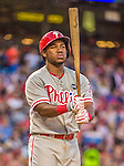 22 May 2015: Philadelphia Phillies infielder Maikel Franco in action against the Washington Nationals at Nationals Park in Washington, DC. The Nationals defeated the Phillies 2-1 in the first game of their 3-game weekend series. Mandatory Credit: Ed Wolfstein Photo *** RAW (NEF) Image File Available ***