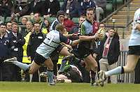 2006, Powergen National Trophy, Will Greenwood, Twickenham, NEC Harlequins vs Bedford Blues, ENGLAND, 09.04.2006, 2006, , © Peter Spurrier/Intersport-images.com.   [Mandatory Credit, Peter Spurier/ Intersport Images].