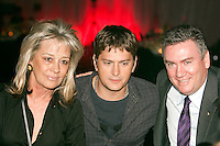 Sue Gudinski, Rob Thomas and Eddie McGuire at the Million Dollar Lunch to raise money for KOALA Foundation (Kids Oncology and Leukemia Foundation) at Crown Casino, Melbourne, 31 July 2009
