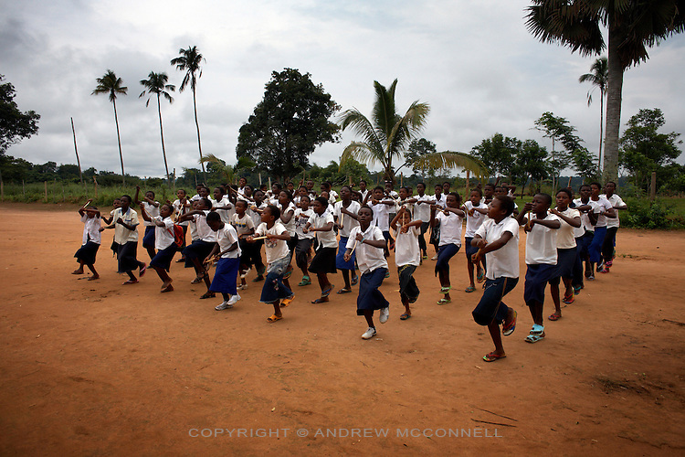 School children celebrate the feast of their school's patron saint, in Yangambi, DR Congo, on Monday, Dec. 8, 2008. Many of the skeleton crew who maintain Yangambi teach local children as there is no real science being carried out at the station.