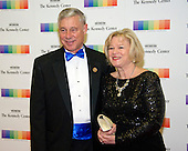 United States Representative Fred Upton (Republican of Michigan and his wife, Amey Rulon-Miller, arrive for the formal Artist's Dinner honoring the recipients of the 39th Annual Kennedy Center Honors hosted by United States Secretary of State John F. Kerry at the U.S. Department of State in Washington, D.C. on Saturday, December 3, 2016. The 2016 honorees are: Argentine pianist Martha Argerich; rock band the Eagles; screen and stage actor Al Pacino; gospel and blues singer Mavis Staples; and musician James Taylor.<br /> Credit: Ron Sachs / Pool via CNP